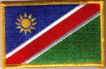 Namibia Embroidered Flag Patch, style 08.